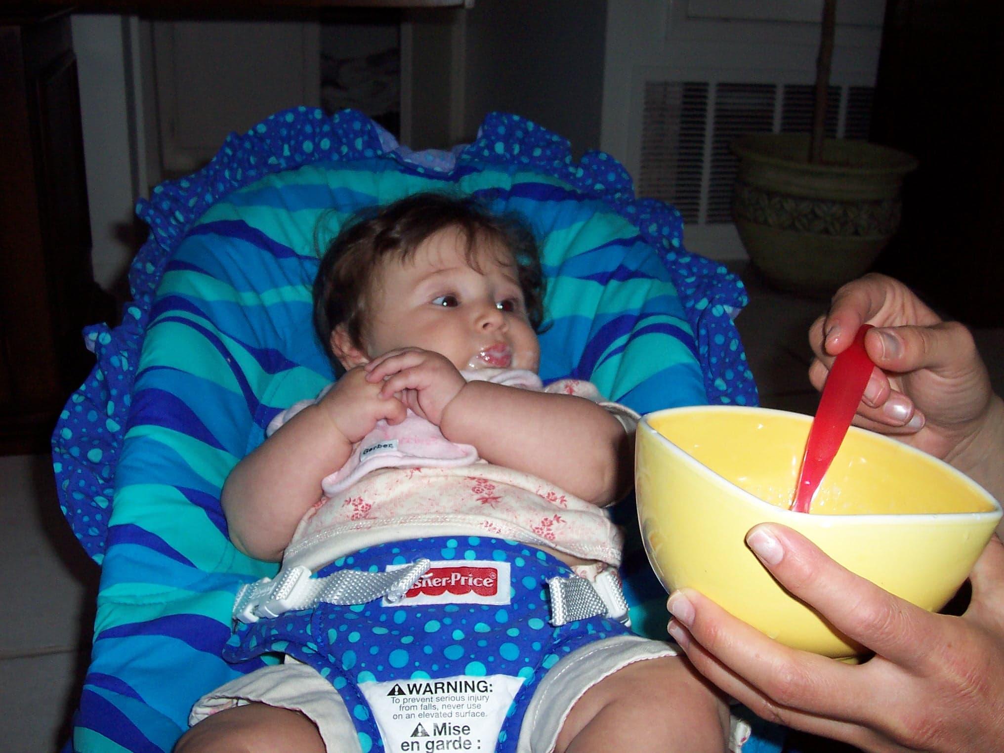 feeding infants
