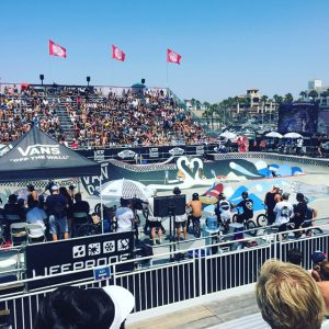 Extreme Sport Injuries; several bmx bikers wait to compete at the 2016 Vans US Open