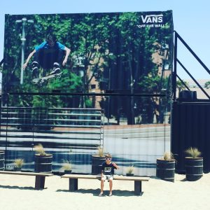 Extreme Sports Injuries- a skateboarder is pictures in the air at the 2016 Vans US Open