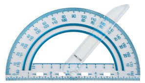 Kids shoulder pain- picture of a protractor which can be used to measure shoulder rotation