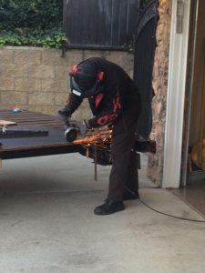 Newborn: a now grown man does welding