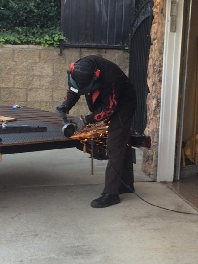 Newborn: a former sick newborn is now pictures doing welding as part of his college work