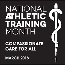 National Athletic Training Month- logo describing compassionate care for all