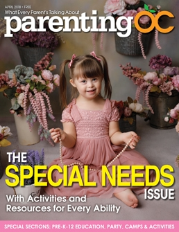 Sports Nutrition: Cover of April 2018 Parenting OC Magazine