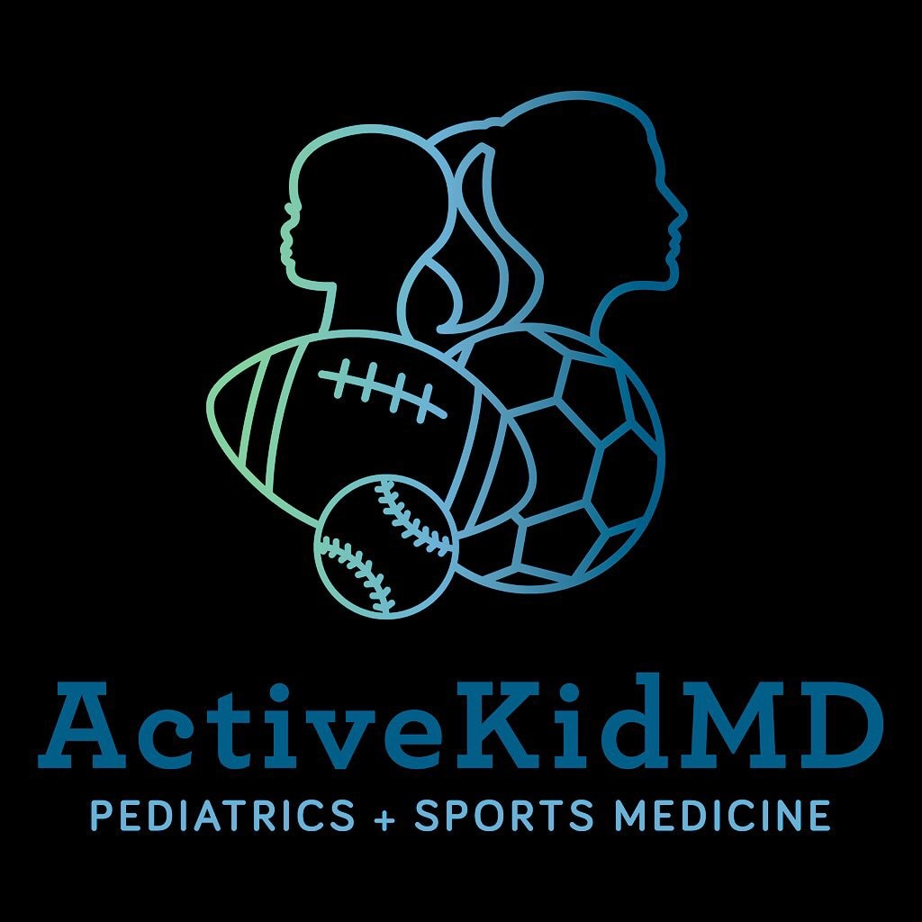 Volleyball doctor: logo of ActiveKidMD, proud USA Volleyball team doctor