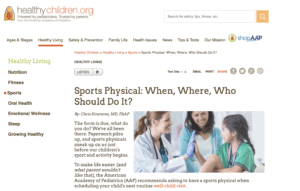 Sports Physical: picture of a physician giving a high 5 to a young patient