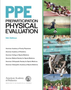 Sports Physical- picture of the cover of the 5th edition preparticipation monograph
